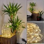 Pistoia Solarlichterkette LED Weiß, 120-flammig - Modern - Außenbereich - versandfertig innerhalb von 2-4 Werktagen