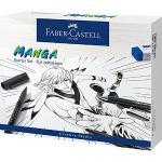 PITT ARTIST Pens Tuschestift Manga Starterset, 19-tlg., inkl. Gliederpuppe mehrfarbig