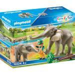 PLAYMOBIL® Family Fun 70324 Elefanten im Freigehege, bunt