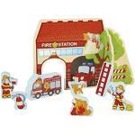 Playtive Junior Spielkulisse Tierarzt Bauernhof Feuerwehr Marktstand Spielzeug Kraitivität Feinmotorik für Kinder Feuerwehr