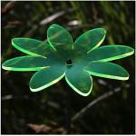 Plexiglas® Sonnenfänger Blüte Blume 14cm neon transparent fluoreszierend, Farbe:Neonorange