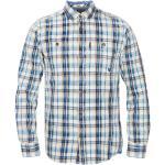 PME LEGEND Jeanshemd, Karo, Button-Down-Kragen, Brusttaschen, für Herren, blau/orange/weiß, M