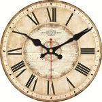 PMWLKJ 5 Muster Vintage Wanduhren Römische Zahl Design Stille Raumdekoration Wohnkultur Uhren Große Wanduhren 6 Zoll (15 cm) Beige Vintage