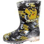 Pokemon Pikachu Leuchtende Gummistiefel für Kinder, Jungen, Regen- und Schneeschuhe, Gummistiefel, Schwarz - Schwarz - Größe: 25 EU
