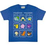 Pokemon Trainer Jungen-T-Shirt Royal Blue Heather 104 | Alter 3-13, Kinderkleidung, Pikachu Kinder Top, Jung, Tween & Teen Größen, Geburtstag Geschenk-Idee