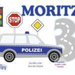 Polizei   804 Großes Bügelbild Name Zahl Geburtstag Aufbügler Applikation Iron On Geburtstagsshirt Geburtstagsbügelbild