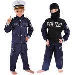 Polizei Kinder Einsatzkommando Kostüm 122 - 128 für Fasching Karneval Polizist