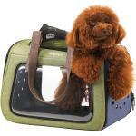 Portico Stoff-Mix Pet Carrier Modell - Hundetasche - Hundeflugtasche von Label Ibiyaya ® Vertrieb: InnoPet ® grün