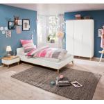 Portobello Kinderzimmer-Set Vivo 3tlg. Holzoptik Braun, Weiß 100 x 200 cm