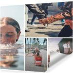 Poster mit Collage quadratisch im Format 100 x 100 cm