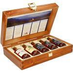Pràban na Linne Whisky Probier- und Geschenkset (5 x 0.05 l): 5 x 50 ml in hochwertiger Holzkiste | Té Bheag, MacNaMara, Poit Dhubh 8, Poit Dhubh 12, Poit Dhubh 21 | Whisky Geschenkset & Probierset