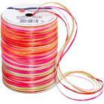PRÄSENT Geschenkband Raffia matt pink/rot/orange/grün 3,0 mm x 50,0m