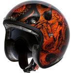 Premier Helm Le Petit BD Orange Chromed schwarz orange Gr. XL 61