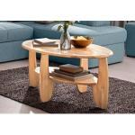 Beige Home Affaire Premium Collection Beistelltische & Ablagetische geölt aus Massivholz