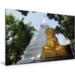 Premium Textil-Leinwand 120 cm x 80 cm quer Goldener Buddha [4059477178022]