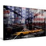 Premium Textil-Leinwand 120 cm x 80 cm quer NEW YORK CITY [4056502829980] Moderne und dekorative Komposition