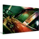 Premium Textil-Leinwand 120 cm x 80 cm quer Oldtimer aus [4059478023857] Porsche 911 S Targa 1977