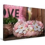 Premium Textil-Leinwand 45 cm x 30 cm quer Blütenkranz [4059477127174] Dekoration