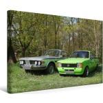 Premium Textil-Leinwand 45 cm x 30 cm quer BMW und Opel Kadett C [4059477145840]