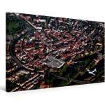 Premium Textil-Leinwand 75 cm x 50 cm quer Luftbild von Hameln [4059478129542]