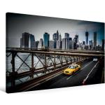 Premium Textil-Leinwand 75 cm x 50 cm quer New York City Taxi [4250800938003]