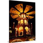 Premium Textil-Leinwand 80 cm x 120 cm hoch Weihnachtspyramide [4056502181194] Weihnachtspyramide am Christkindlesmarkt, Augsburg, Deutschland