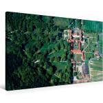 Premium Textil-Leinwand 90 cm x 60 cm quer Barockschloss [4059478313743] Luftaufnahme
