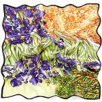 prettystern Bandana Seide Nickituch Halstuch Malerei Kunstdrucke van Gogh Schwertlilien Iris grün P222