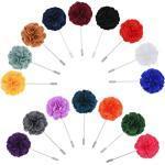 PRETYZOOM 16pcs Blumen Brosche Herren Kragen Pin Herren Brosche Stoff Handgemachte Kamelie Blumen Boutonniere Anzug für Mantel Anzug Hochzeit Herren Gäste