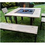 PRIMA TERRA 4tlg Tischplatte CALIDO für Grilltisch und Feuerschale