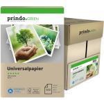 Prindo Papier 5x 500 Blatt (1Karton) Recyclingpapier A4, 21,0x29,7cm whitesmoke, 80g/m², ISO 70