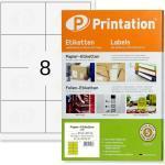 Weiße Printation Etiketten DIN A4