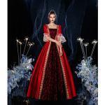 Prinzessin Shakespeare Maria Antonietta gotisch Rokoko Vintage inspiriert Mittelalterlich Urlaubskleid Kleid Partykostüm Maskerade Ballkleid Damen Kostüm Schwa Lightinthebox