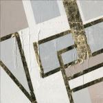 PRO ART Handpainting Bild GOLDEN STYLE III 40 x 40 cm Leinwand mehrfarbig