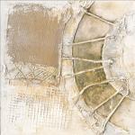 PRO ART Handpainting Bild YELLOW RIVER III 40 x 40 cm Leinwand mehrfarbig