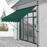 Pro-tec Klemmmarkise »Oeiras« Sichtschutz Balkonmarkise ohne Bohren in verschiedenen Farben und Größen, dunkelgrün