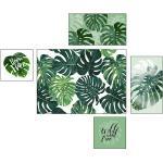 ProArt Gerahmtes Bild Green Plants (5 -tlg., Grün/Weiß)