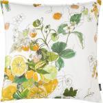 Proflax Kissenbezug Sicilia Weiß/Limone 50x50 cm (BxH) Baumwollstoff