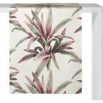 Proflax Tischläufer Grado Weiß/Grün/Pink Baumwollstoff 50x140 cm (BxT)