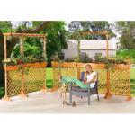 promadino Spalier, mit Pflanzkasten, BxT: 110x41 cm, versch. Höhen braun Spaliere Gartendekoration Gartenmöbel Gartendeko Spalier