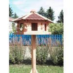 Promadino Vogelhaus Knusperhäuschen mit Fußkreuzständer 143,5 cm x 57 cm x 59 cm