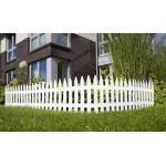 Prosperplast Beetumrandung Garden Classic, Minizaun weiß Rasen- Beetbegrenzung Gartendekoration Gartenmöbel Gartendeko