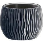 Prosperplast Übertopf Sandy Bowl anthrazit, Ø 18 x H 13,8 cm, rund, Kunststoff