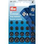 Prym Druckknöpfe 6-11mm zum Annähen schwarz
