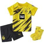 PUMA Unisex, BVB HOME BABY-Kit w.Sponsor w.hanger new T-shirt, Cyber Yellow-Black, 56