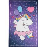 Pummel & Friends Kinderteppich »Pummelfee Ballon«, rechteckig, Höhe 4 mm, bedruckt, waschbar, Kinderzimmer, lila