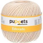 Puppets Eldorado Stärke 10 4576010-04269 beige Häkelgarn, 100 % Baumwolle