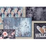 Pure & Soft Schmutzfangmatte • in 12 Farben und 2 Groessen - Herzlich Willkommen grau / 50 x 70 cm