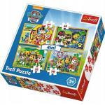 Puzzle Box 4 in 1 PAW Patrol 35 + 48 + 54 + 70 Teile Kinderpuzzle