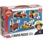 Puzzle - Feuerwehrmann Sam 4-in-1 Konturenpuzzle (Jumbo)